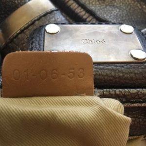 CHOLE Paddington Silver Metallic Handbag